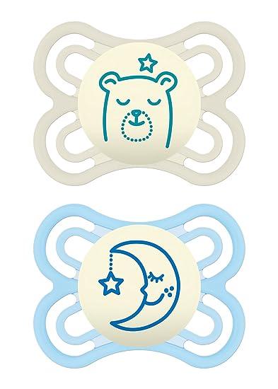Amazon.com: MAM Perfect Night 2 Piece Baby Pacifier, Niño, 0 ...