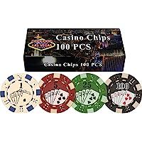 Da Vinci 100Dados Straight Flush Poker Chips en Las Vegas Caja de Regalo, 11,5Gm