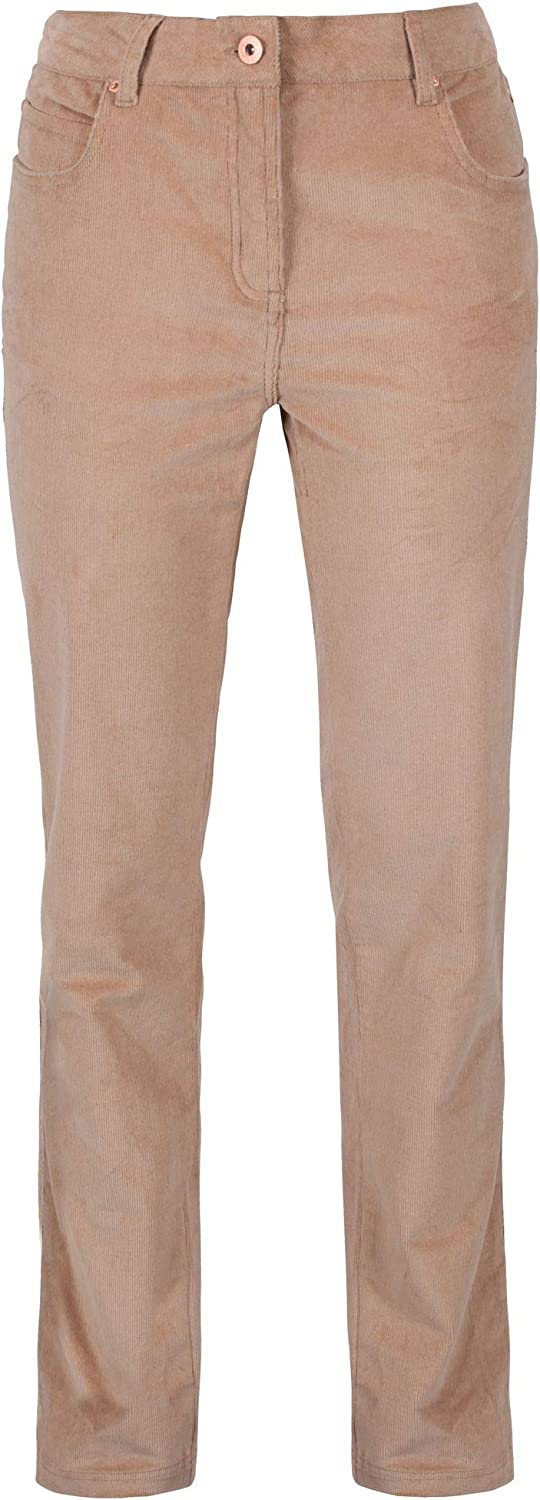 Regatta Womens//Ladies Darika Cotton Twill Elastane Corduroy Trousers