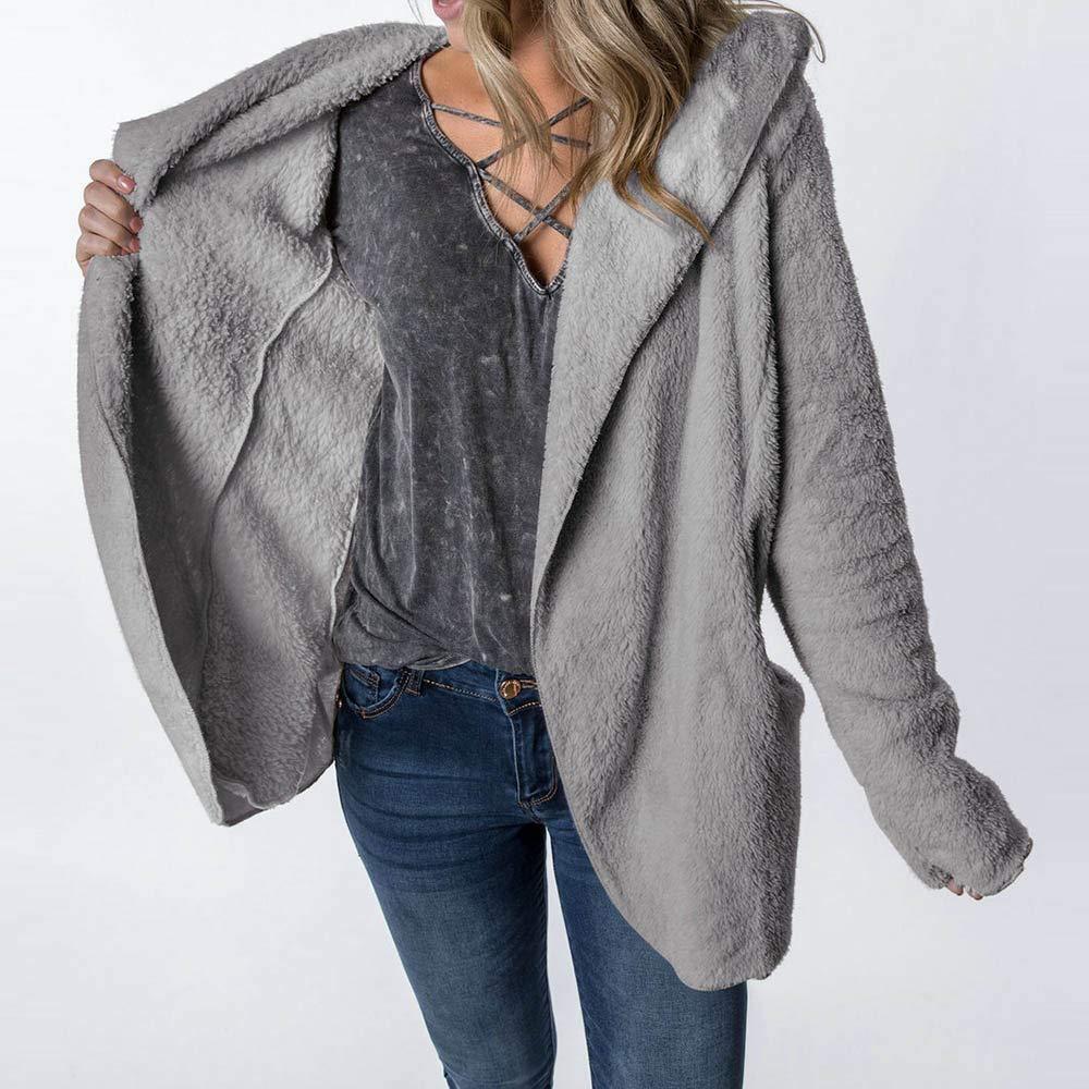 Pumsun Women Winter Coat Keep Warm Outerwear Hoodie Faux Fur Coat Outwear