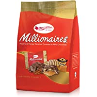 Pangburns Millionaire$ Gusset Bag, 16.75 Ounce, Pangburn's Millionaires Candy, Buttery Pecans, Creamy Caramel, Honey, and Mouthwatering Milk Chocolate; Texas Born, and Loved by All