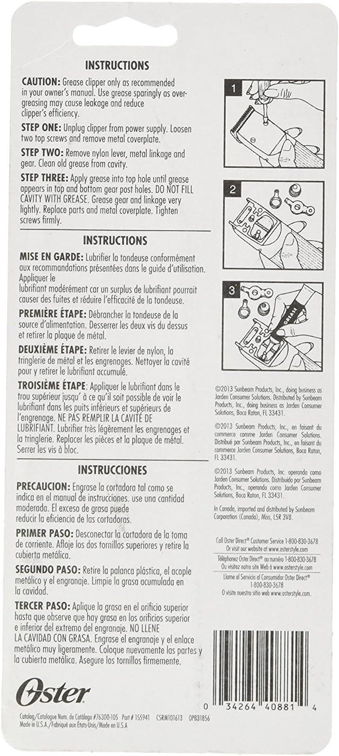 Oster 78917-675 - Grasa para los engranajes de cortapelos a motor ...