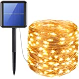 AMIR Upgraded Solar String Lights, 72ft 8 Modes Copper Wire Lights, 200 LED Starry Lights, Waterproof IP65 Fairy Christmas Decorative Lights for Outdoor, Wedding, Homes, Party, Halloween (Warm White)