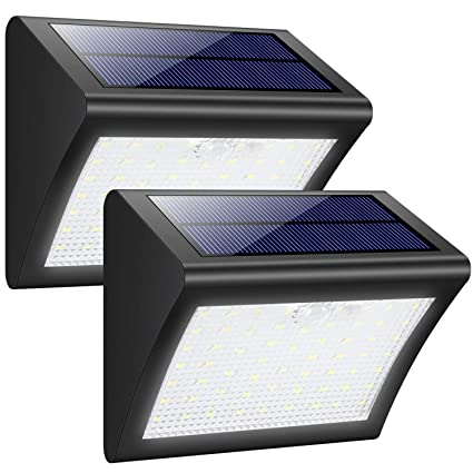 Luces Solares Exterior, Trswyop 60 LED [2 Paquetes] Luz Solar con Sensor Movimiento