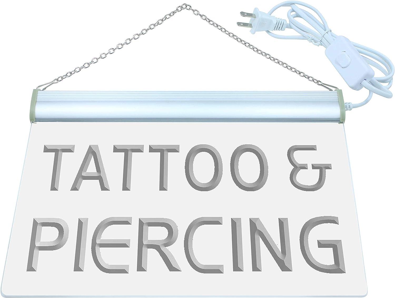 ADVPRO i482-b Tattoo Piercing Open Service New Neon Light Sign Barlicht Neonlicht Lichtwerbung