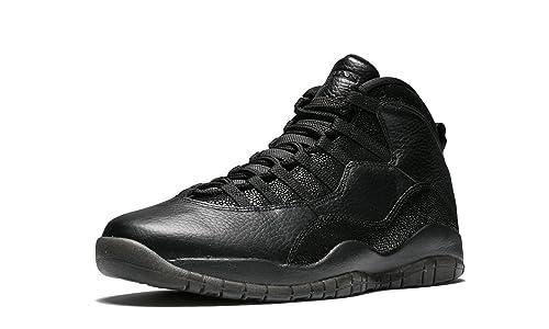 separation shoes f1a01 02486 Nike Air Jordan 10 Retro Ovo, Zapatillas de Deporte para Hombre, Negro  Black-Metallic Gold, 50 EU  Amazon.es  Zapatos y complementos