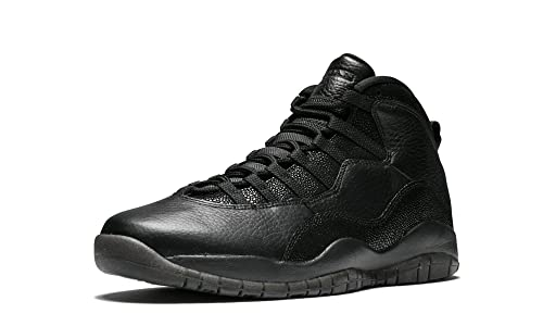 newest 7b3c4 f6db6 Nike Uomo Air Jordan 10 Retro Ovo Scarpe Sportive Nero Size  40.5
