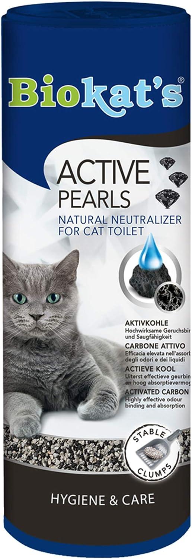Biokat's Active Pearls - Aditivo con carbón activo que mejora la neutralización del olor y la capacidad de absorción de la arena para gatos - 1 bote (1 x 700 ml)