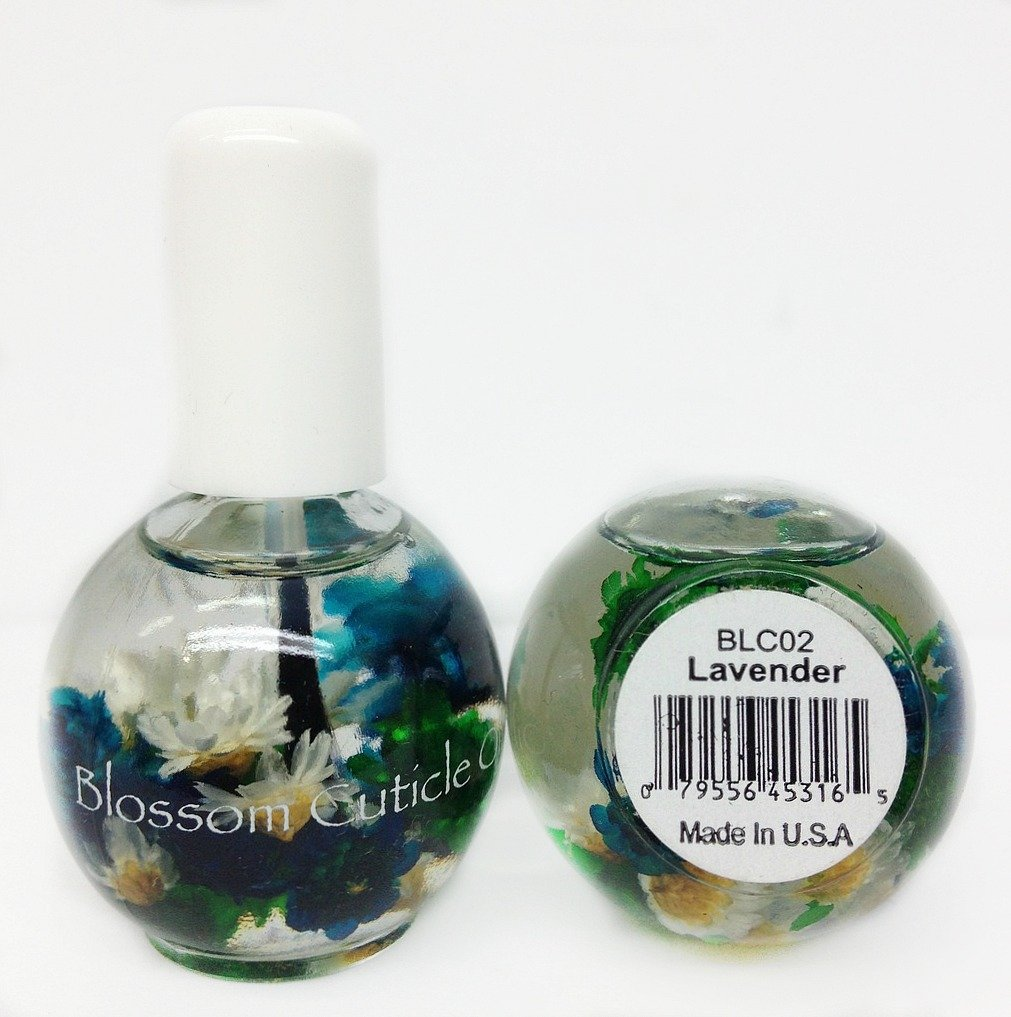 Blossom Cuticle Oil 0.5oz- Lavender blue cross beauty