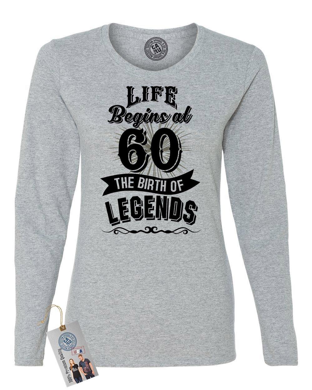 Custom Apparel R Us Life Begins At 60 Legends Birthday Gift T Shirt 6324