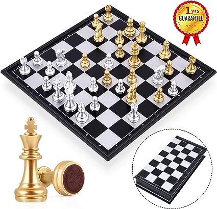 Mini Folding Magnetic Chess Set Table Games Educational Toy for Kids Men Women