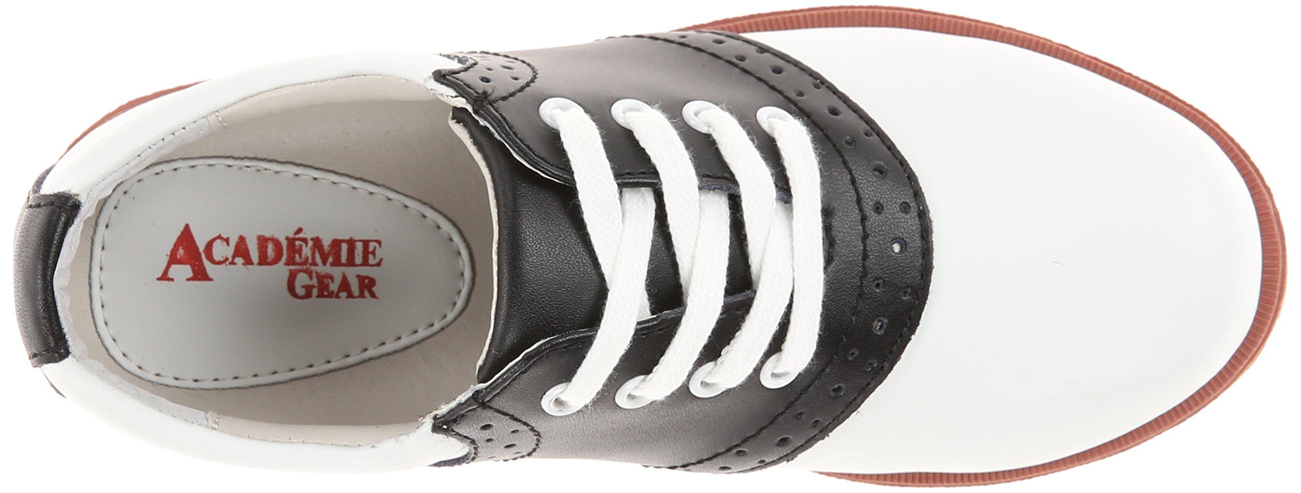 Academie Gear Honor Roll Saddle Shoe (Toddler/Little Kid/Big Kid),White/Black,4 W US Big Kid by Academie Gear (Image #8)