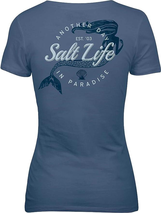 Amazon.com  Salt Life Women s Mermaid Paradise Short Sleeve T-Shirt   Clothing 837bdb8a0