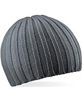 Beechfield Mens Chunky Knit Beany Ski Beanie Hat