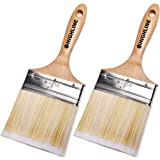 "2 Pack - 4"" Wide HIGHLINE Premium Bristle Paint Brushes"