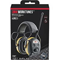3M WorkTunes AM/FM Hearing Protector with Audio Assist Technolog, 24 dB NRR