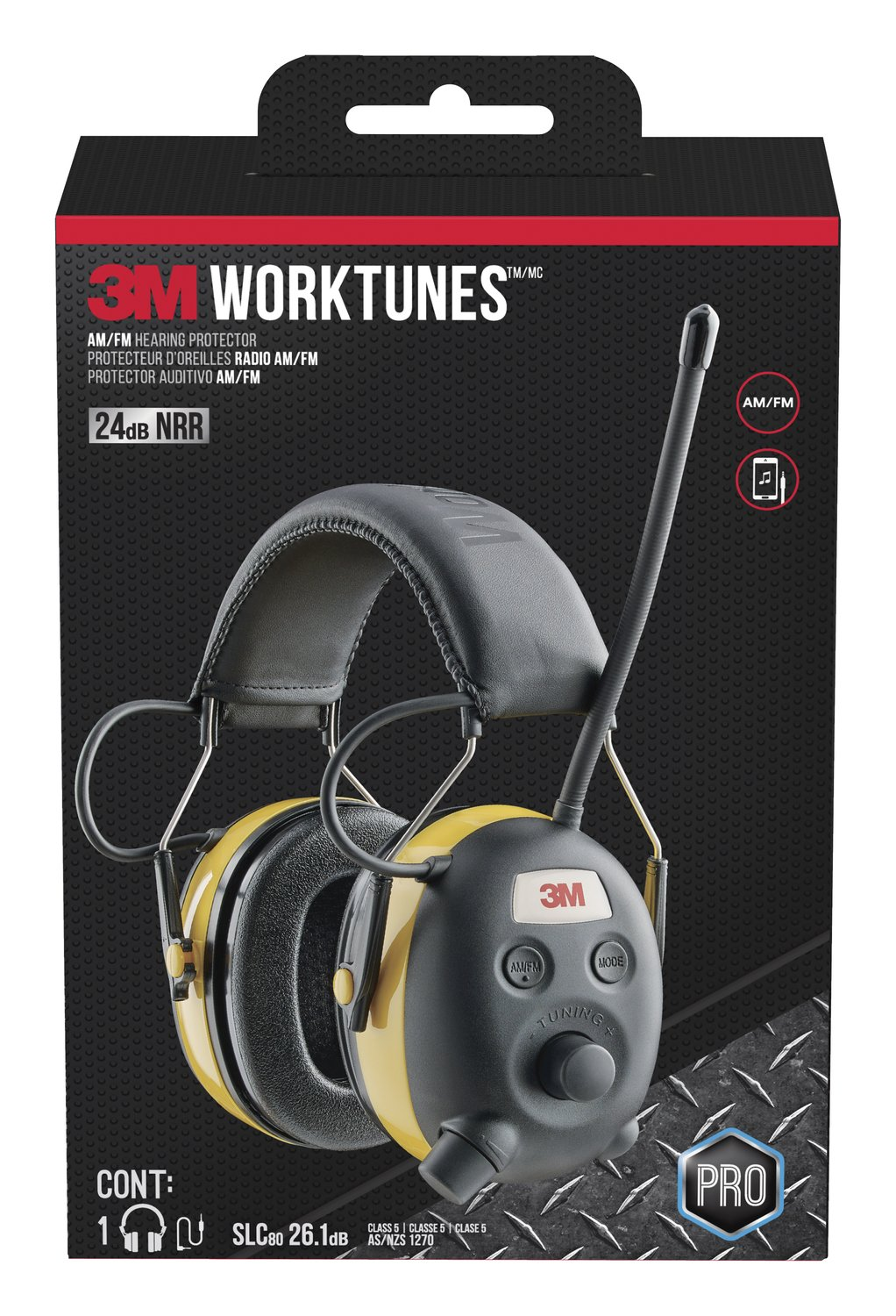 3M WorkTunes Connect Hearing Protector, Wired - 90541-80025T by 3M Safety