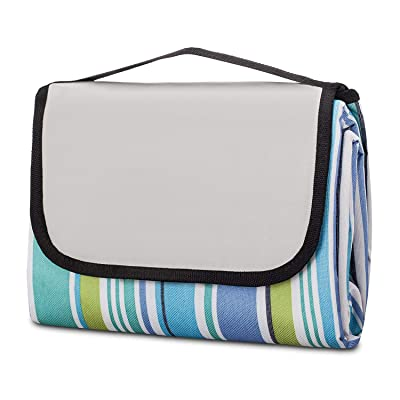 Pruslick & Co Outdoor Waterproof Beach Picnic Blanket - Our Extra Large 150cm x 200cm Portable Mat Keeps You Sand Proof When You Sit Down | Durable, Wrinkle and Shrink-Proof Mat : Garden & Outdoor