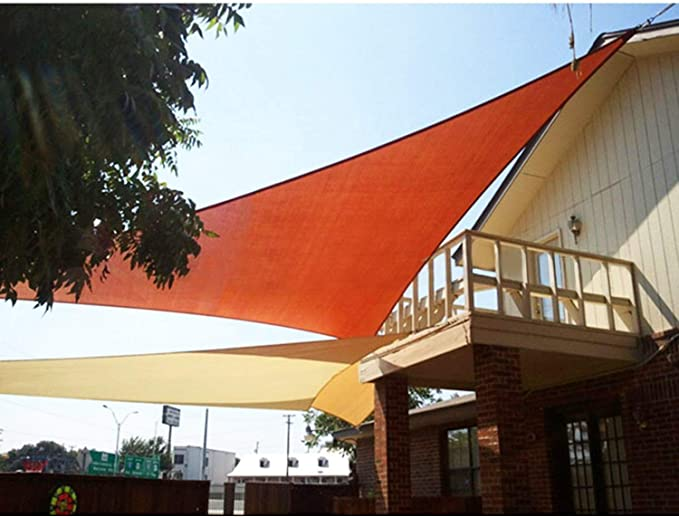 iLH 4.8x4.8x7m Sombrilla Vela Jardín al Aire Libre Patio Fiesta ...