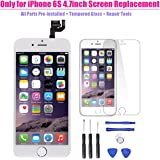 Full Digitizer Assembly for iPhone 6S (4.7 Inch) LCD Display Screen Replacement with Home Button + Front Camera + Proximity Sensor + Ear Speaker + Repair Tools, not for iPhone 6