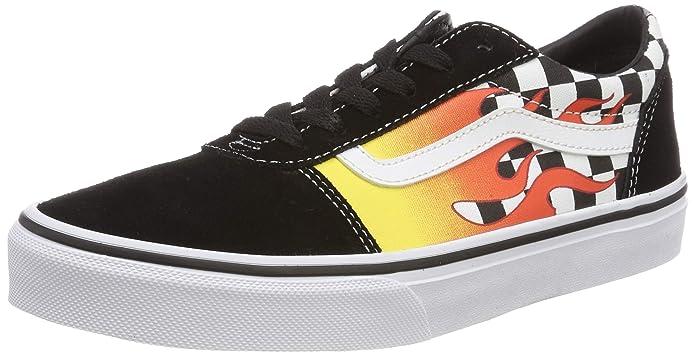 Vans Ward Sneakers Suede/Canvas Unisex-Kinder Bunt Flammen und Karo