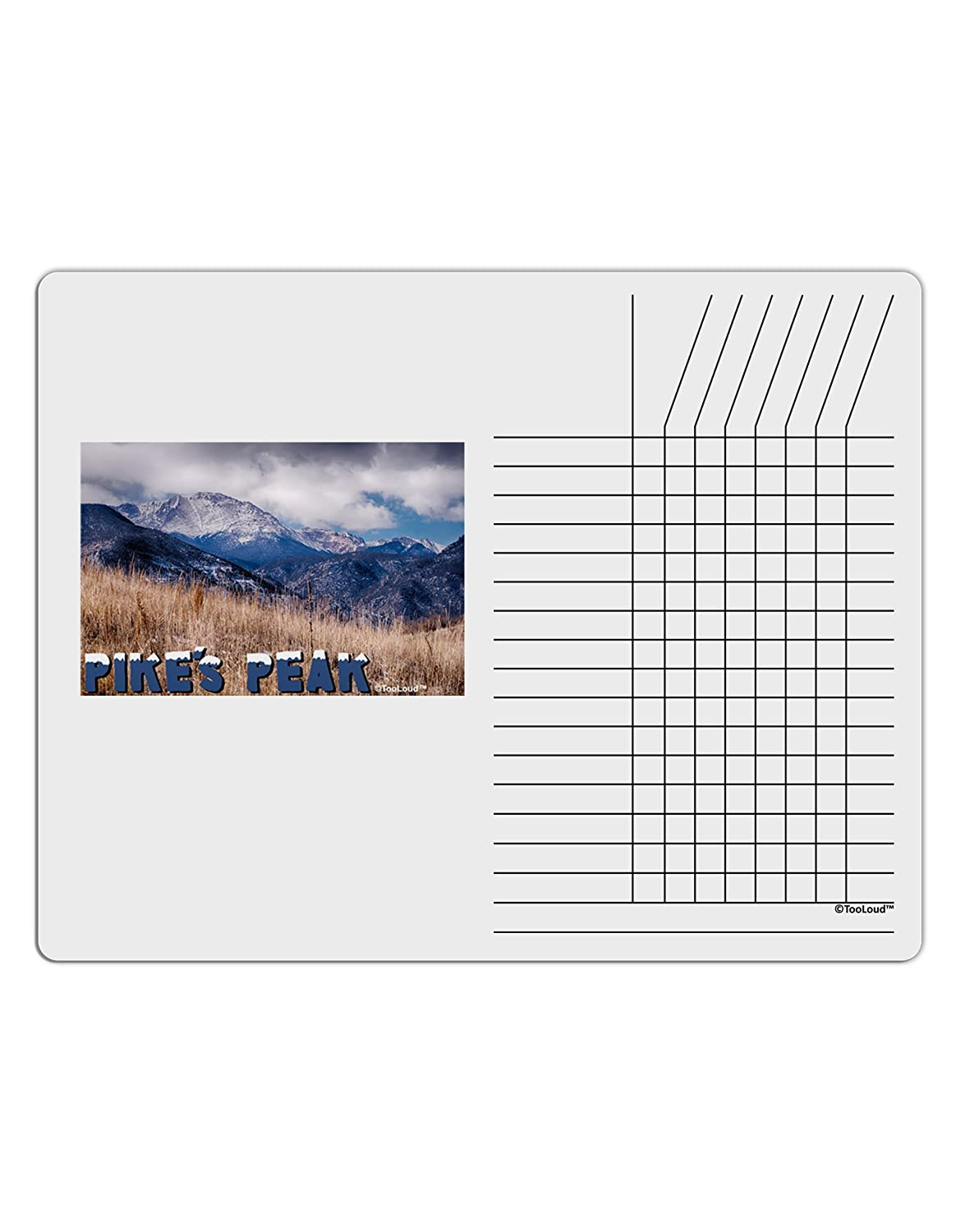 TooLoud Pikes Peak CO Mountains Text Chore List Grid Dry Erase Board