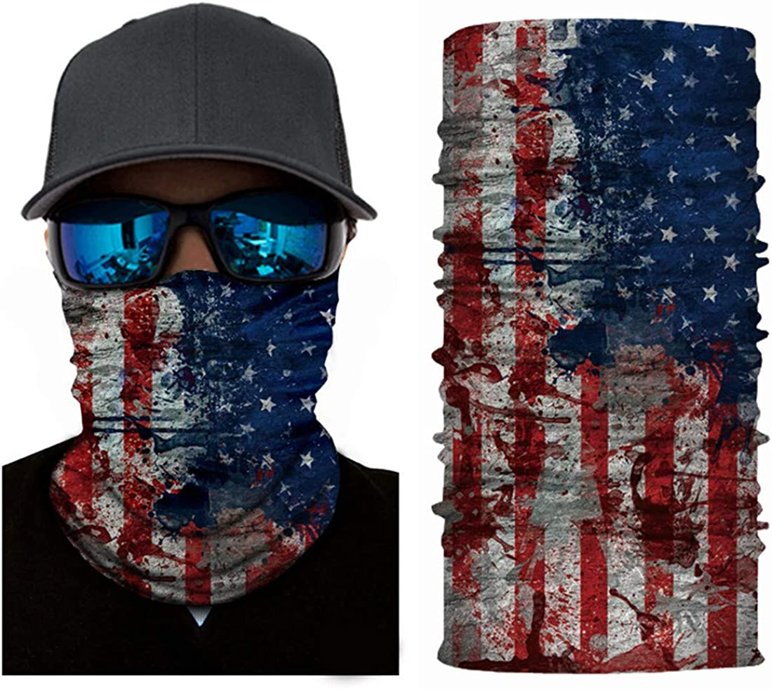 US Bandana for Rave Face Cover Dust Wind UV Sun Motorcycle Face Scarf for Men