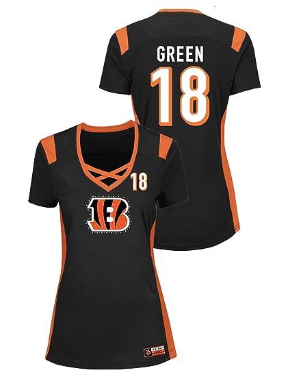 best website f90fa d9a65 Amazon.com : Majestic A.J. Green Cincinnati Bengals Women's ...