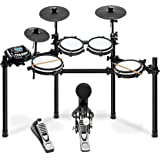 LyxJam 8-Piece Electronic Drum Kit, Professional Drum Set with Real Mesh Fabric, 448 Preloaded Sounds, 70 Songs, 15-Song…