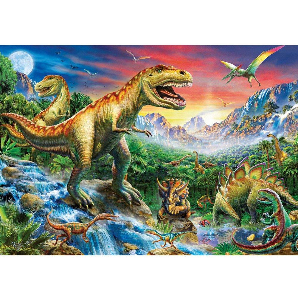 WaiiMak 5D Dinosaur Embroidery Paintings, Rhinestone Pasted DIY Diamond Painting Cross Stitch (B)