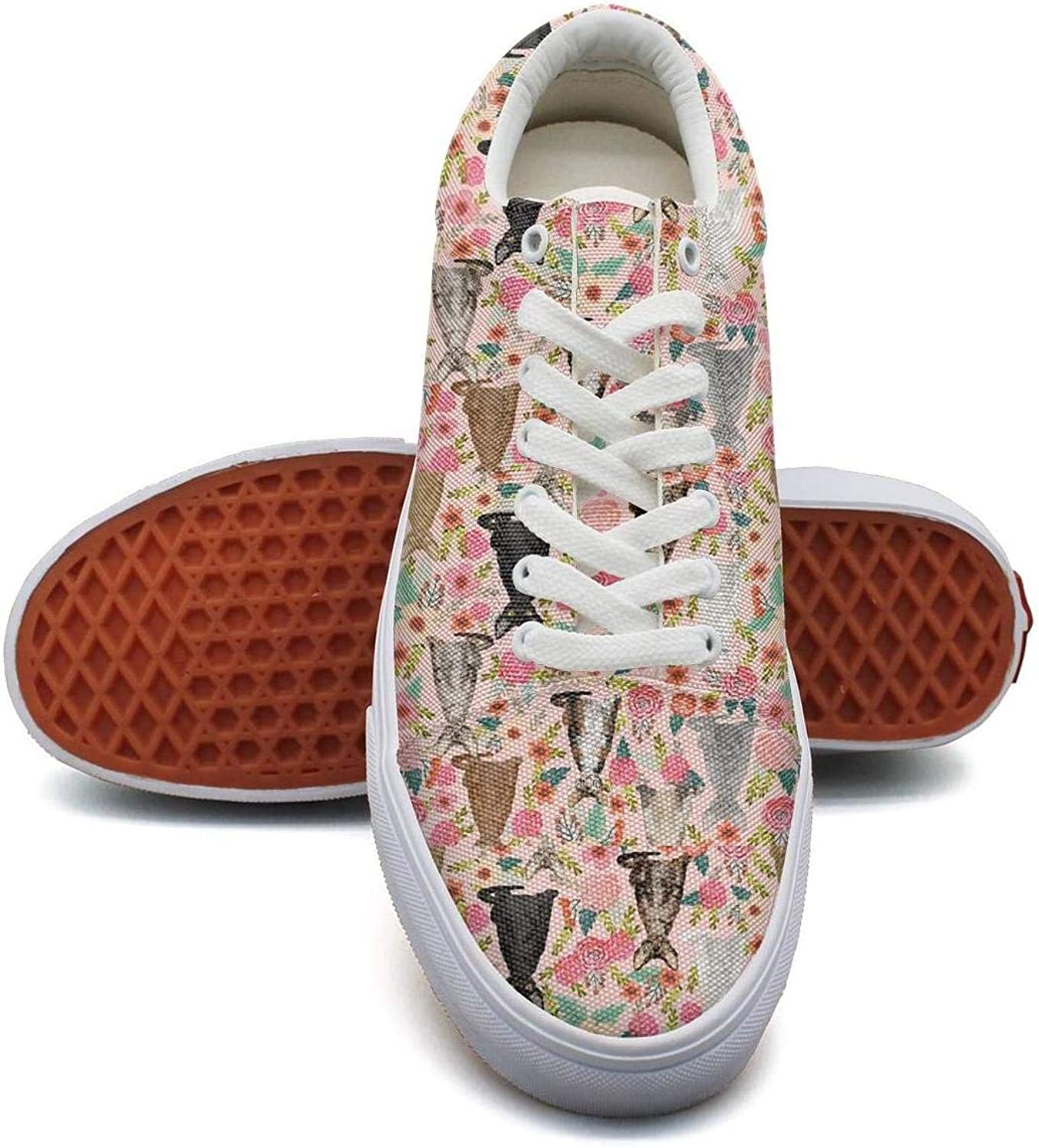 Cute Sketch Rainbow Galaxy Cat Womens Canvas Shoes Retro Low Top Skateboard Sneakers