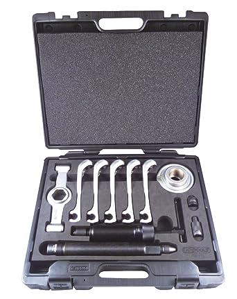 KS Tools 700.1400 - Pack de 11 piezas de extractor de bujes/extractor de árboles cardán universal, hidráulico: Amazon.es: Industria, empresas y ciencia