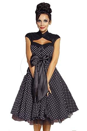 Rockabilly Kleid Schwarz Inkl Petticoat Rock 50er Jahre L