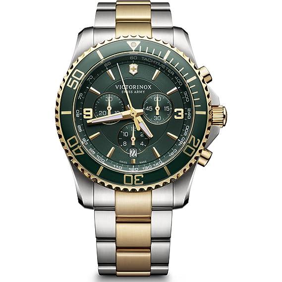 Victorinox Reloj Cronógrafo de Cuarzo para Hombre con Correa de Acero Inoxidable - 241693: Amazon.es: Relojes