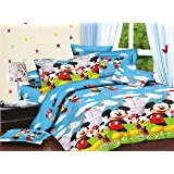 Star 3D-Cartoon Print Double Bedsheet with 2 Pillow Covers.