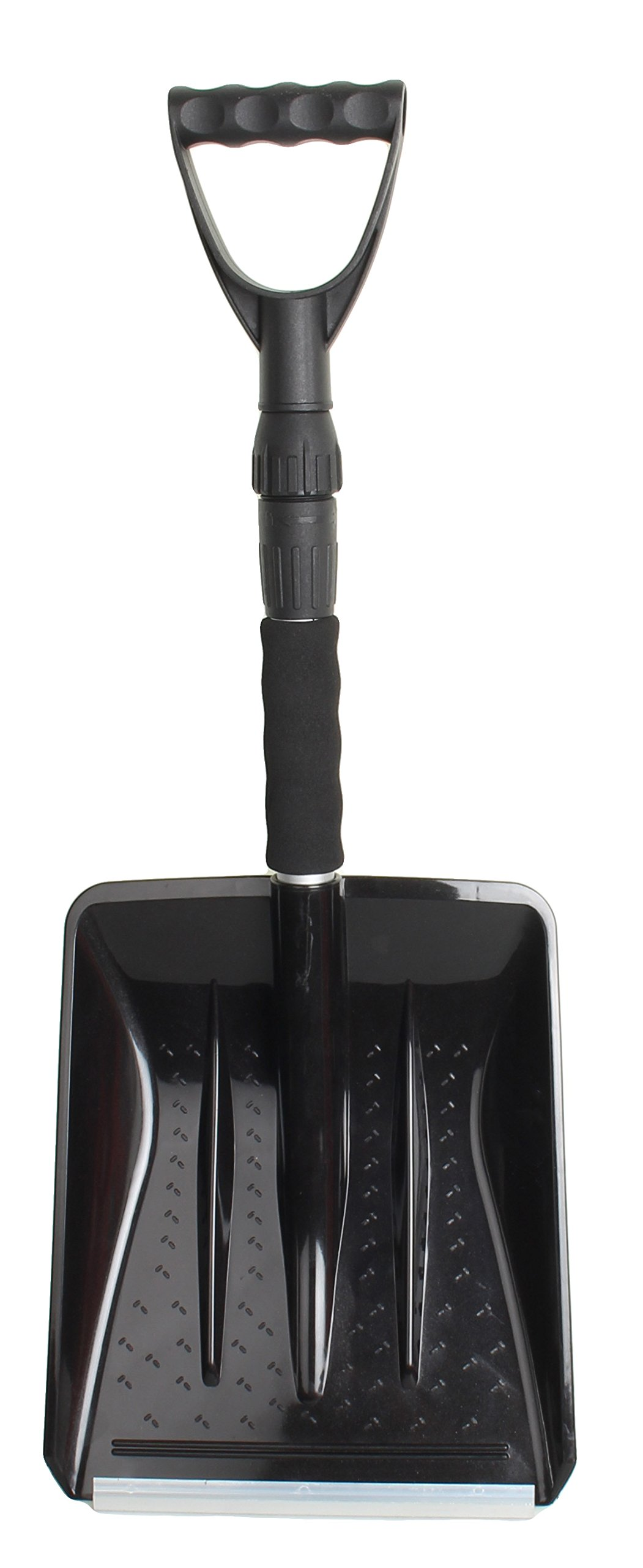 Compact Auto Emergency Snow Shovel Perfect for cars, trucks, and SUVs (Black)