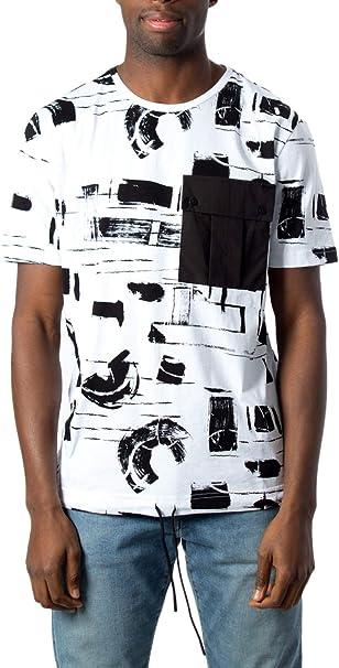 Da Uomo 100/% cotone Tee Shirts patterened TASCHINO MANICA CORTA SCOLLO TONDO T