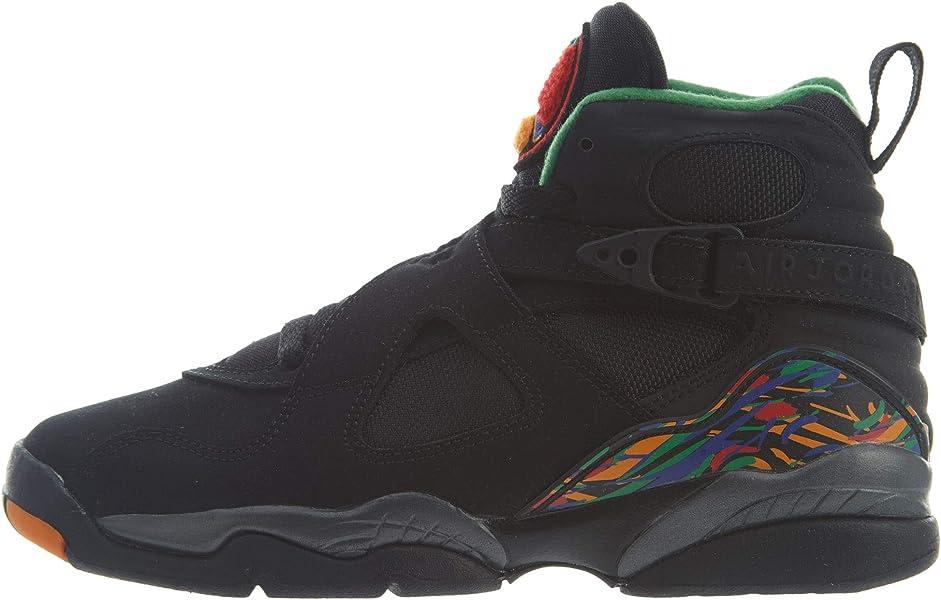e42f20b1d441 Air Jordan 8 Retro Big Kids  Shoes Black Light Concord Aloe Verde 305368
