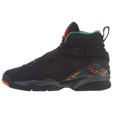 2ca1334235688 Amazon.com | Air Jordan 8 Retro Big Kids' Shoes Black/Light Concord ...