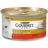 Purina - Gourmet Gold Mousse Buey - Pack de 24 x 85 g - Total 2040 g