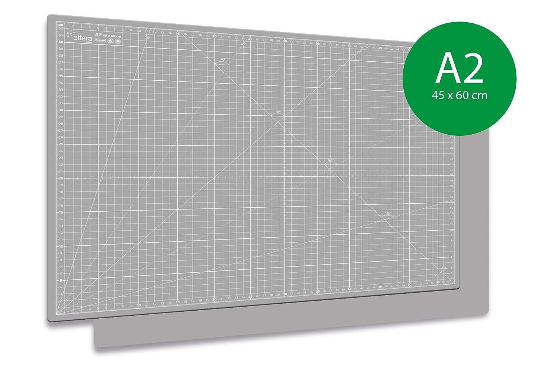 selbstheilend Hobby GRAU mit Raster Altera Schneidematte 45x60cm schneidunterlage A2