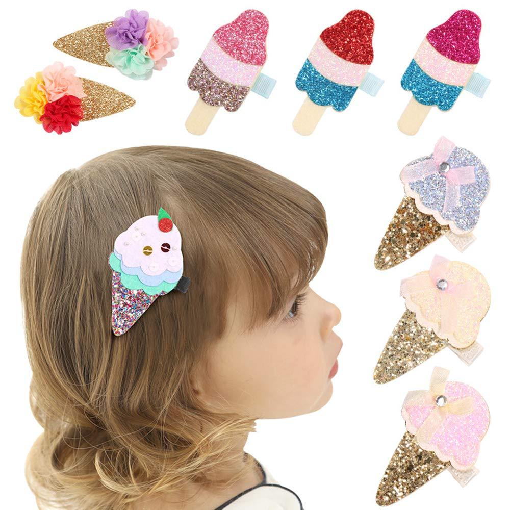 Ice Cream Feltie Ice Cream Headband Ice Cream Hair Clip