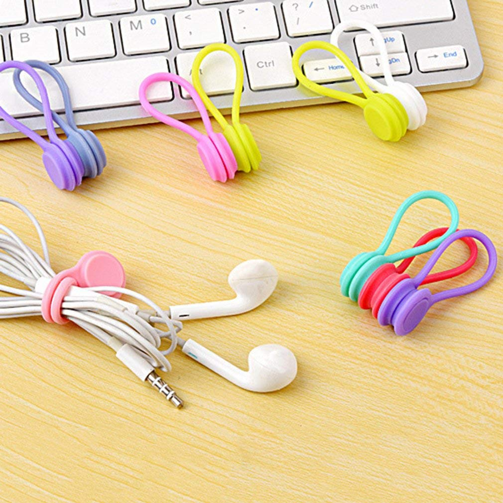 3pcs Multifunction Magnetic Earphone Cord Winder Cable Holder Organizer Clips