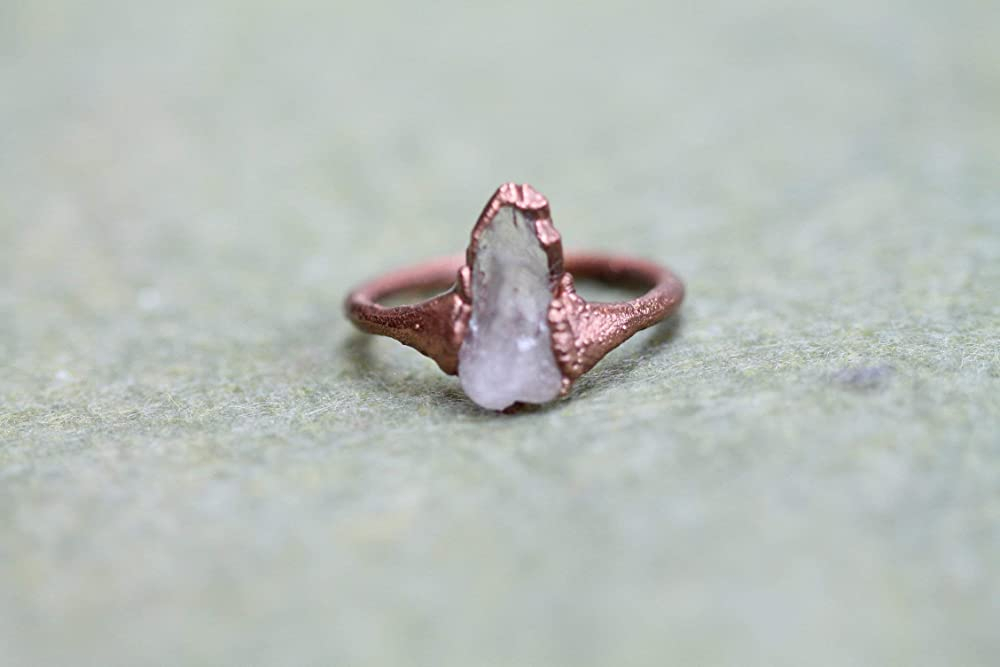 Copper Ring Clear Quartz Gemstone ring Jewelry for women Witchy Copper Crystal ring Boho Ring with gem Copper Jewelry Crystals
