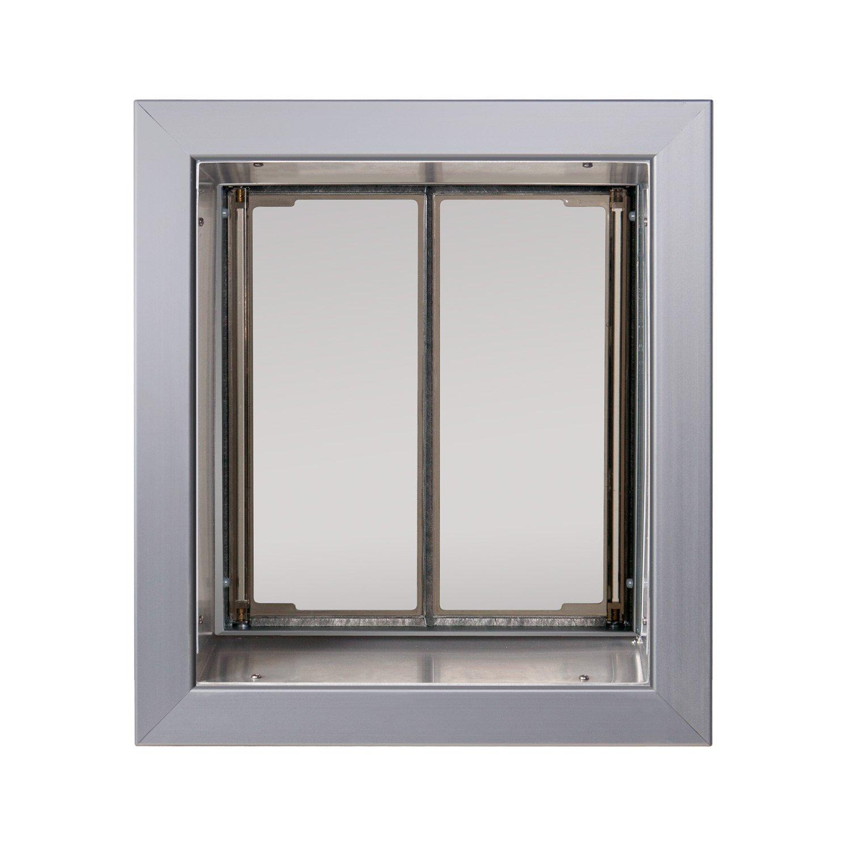 PlexiDor Performance Pet Doors Medium Silver Wall Mount