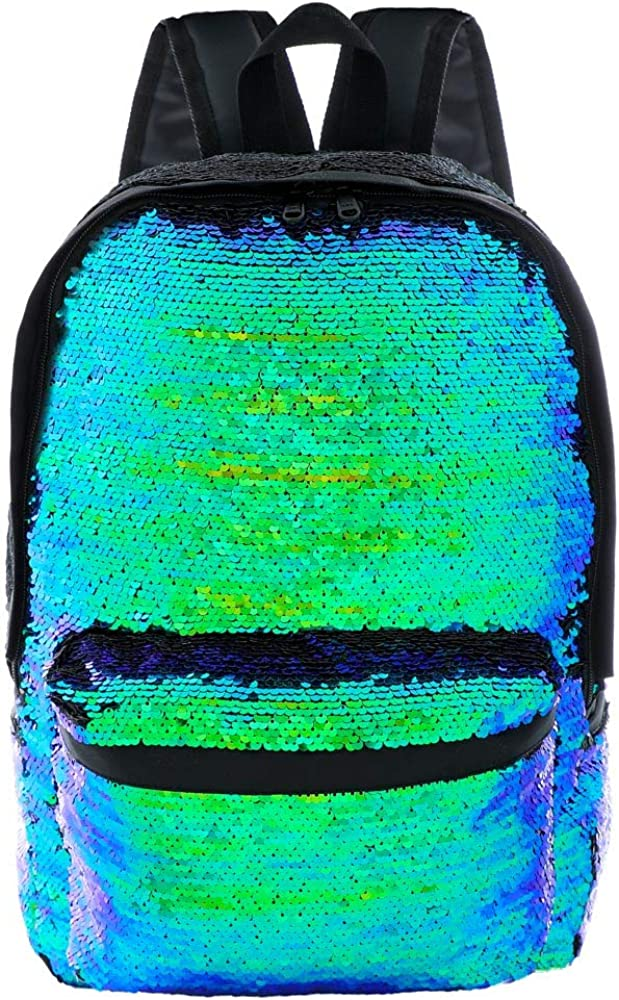 Fashion Reversible Sequins Backpack for Women and Men or Students