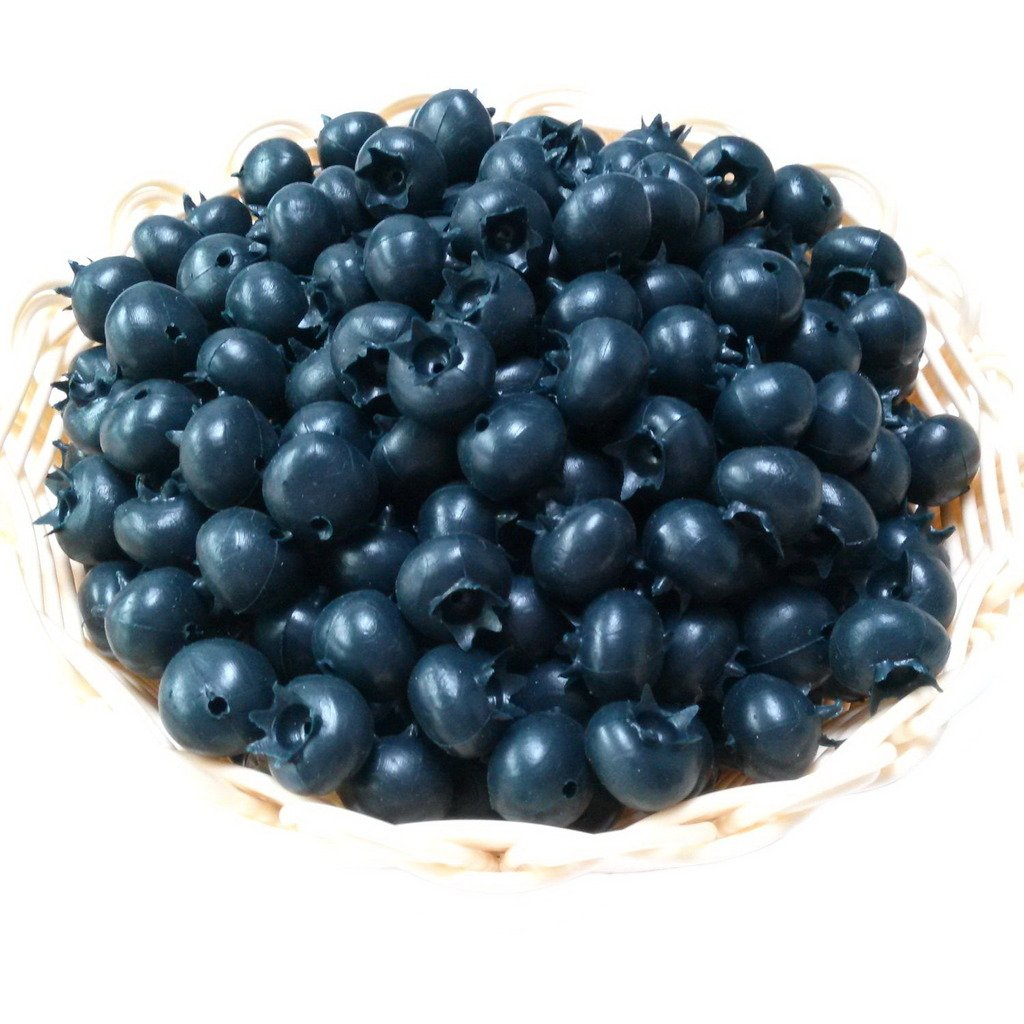 Gresorth 50 PCS Artificial Blueberry Craft Fake Fruit Blueberries Home House Kitchen Cabinet Decoration AX-AY-ABHI-99067