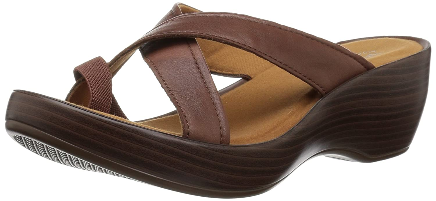 Eastland Women's Willow Slide Sandal B076QVDNXR 6 B(M) US|Walnut