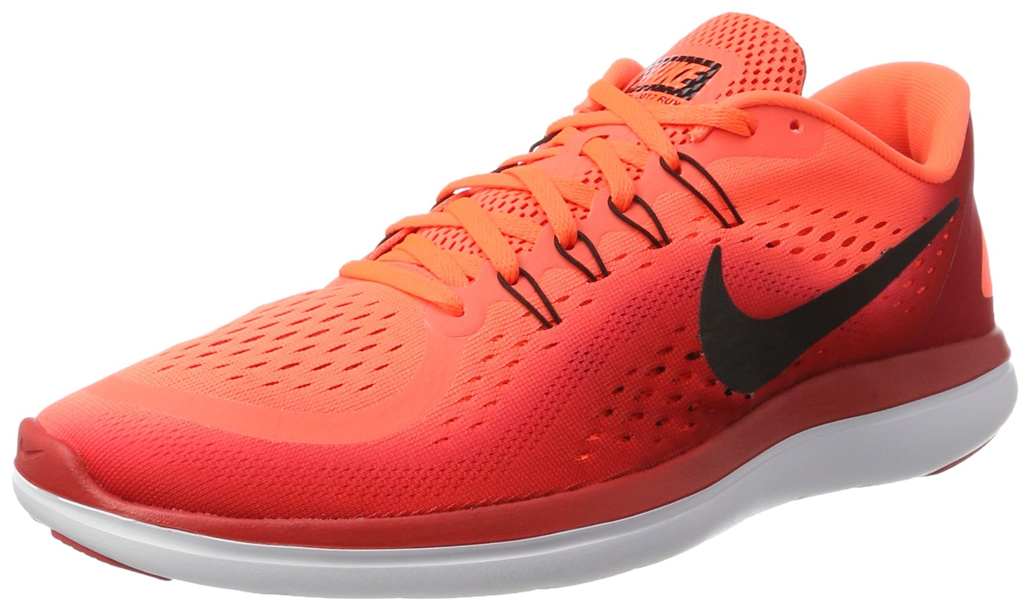 NIKE Flex 2017 RN (15 D US, Hyper Orange/Black) by NIKE