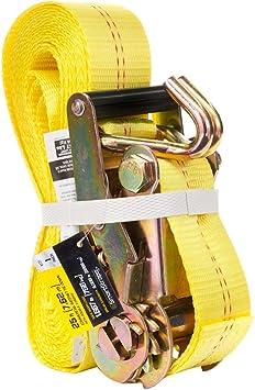 16 ft x 2 in x 10000 lbs Padded Camo Heavy-duty Ratchet Tie Down Double J-Hooks